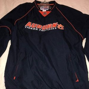 Auburn Tiger Team Issue Pull Over Jacket Size Md